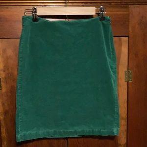 Old Navy green corduroy pencil mini skirt 4 fall!